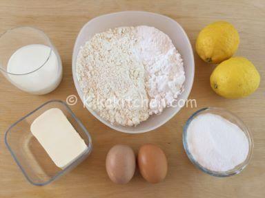 ingredienti ciambella al limone