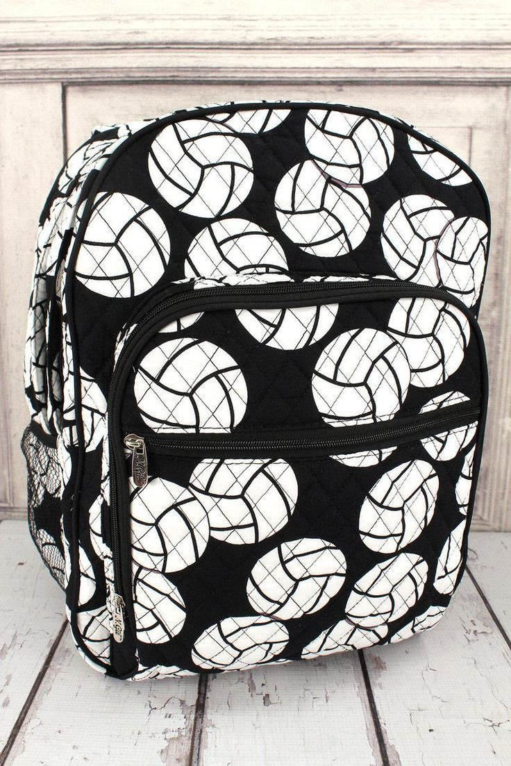 Volleyball Oversized Quilted Backpack/ Monogrammed Backpack/ Personalized Backpack/ Backpack for Women