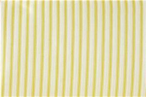 Pamela Kline Traditions Yellow Ticking Stripe Shower Curtain