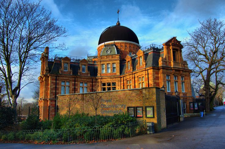 Greenwich-London/  British Royal Observatory Victorian architecture Here brings science and history