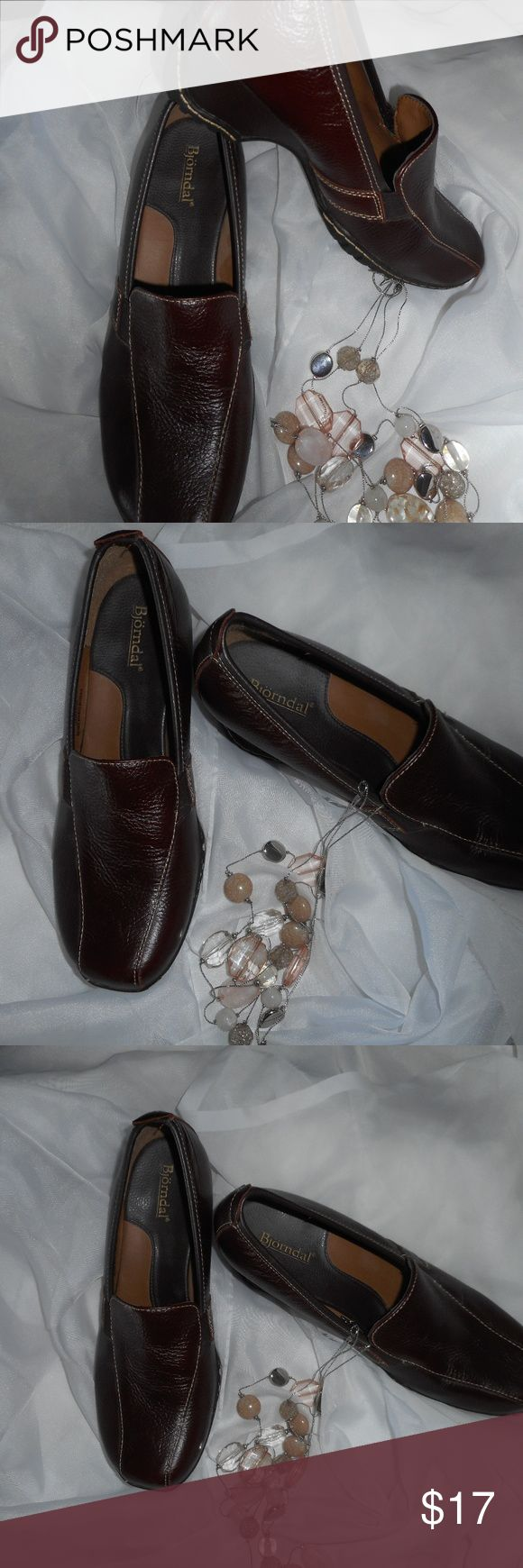Bjorndal Brown Wedge Loafer Like New Great pre owned condition.  Like new Bjorndal Shoes Flats & Loafers