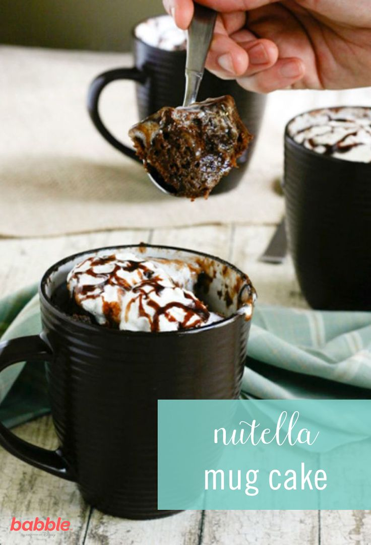 When it comes to mug cakes, they often turn out to be too dry or bland. However, when you add Nutella into the mix, it can transform your generic mug cake into something delicious. With this Nutella Mug Cake recipe, you'll finally get a chocolate cake perfection, with a hint of Nutella flavor! It is the perfect decadence to help fulfill a sweets craving. This dessert also takes less than 5 minutes to make! Grab additional ingredients, such as milk and cocoa powder to get started.