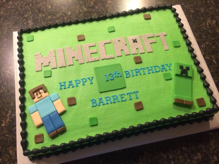 Minecraft Cake Birthday Cake Ideas Pinterest Minecraft