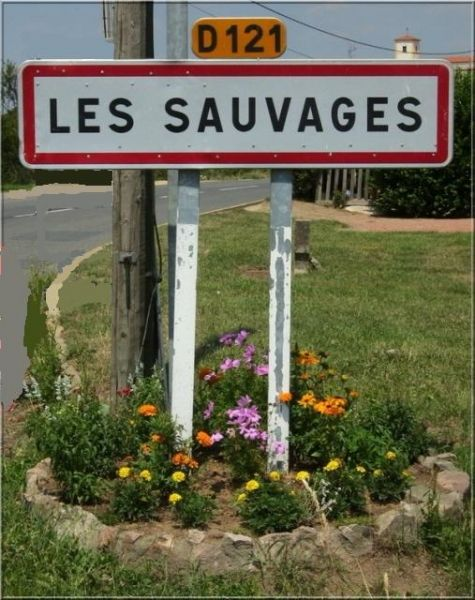 Identity of the village  Les Sauvages  The Savages is in the Rhones-Alpes region.  The village is located in the Department of Rhône (69).  The prefecture is Lyon.  The district administration is Villefranche-sur-Saône.  It is part of Tarare Township (Community municipalities in the country Tarare).  The INSEE code is 69174.  The ZIP code is 69170.  The inhabitants are called The Sauvageons and Sauvageonnes.