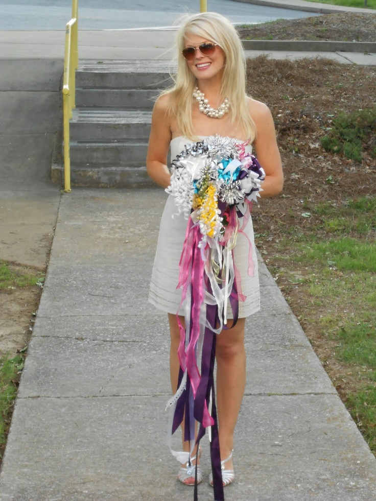 Rehearsal Bouquet made from shower ribbons and bows