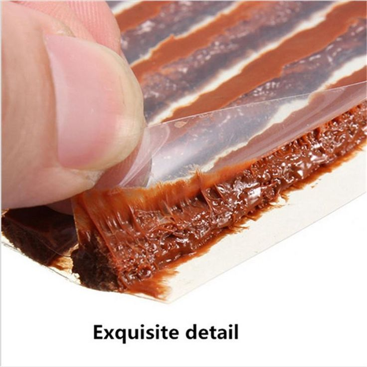 Tire Repair Sealer Scooter Tubeless Tyre Bike Automobile Motorcycle Repairing Rubber Strips 2016 Brand New 25pcs/lot 100*6mm