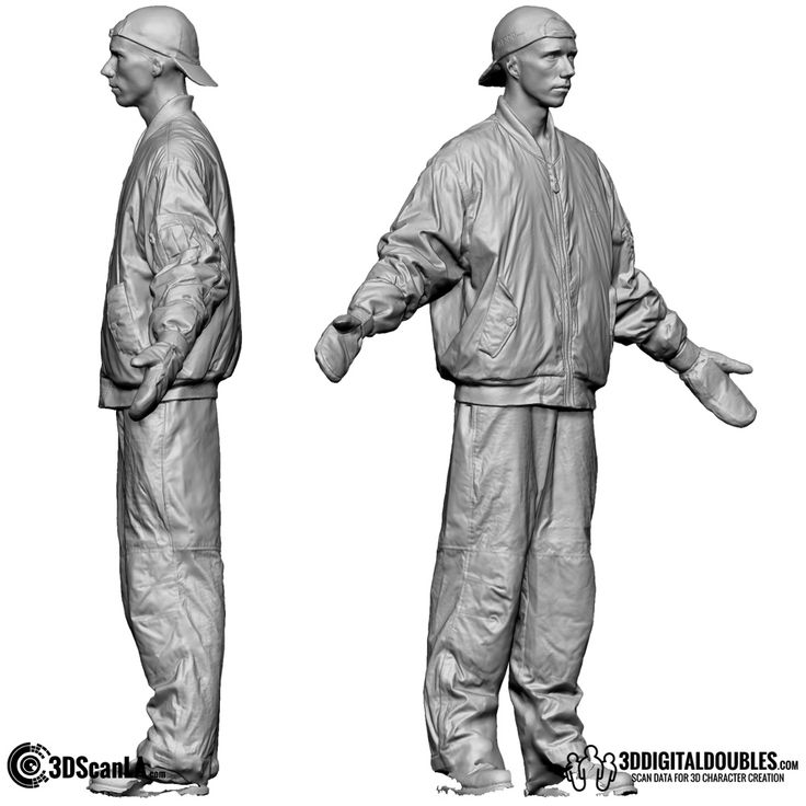 3D Head and Body Scanning for 3D Character Design   Male 3D Body Scan; DS 02