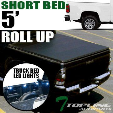 Topline Autopart Roll-Up Soft Truck Topper Cap Tonneau Cover