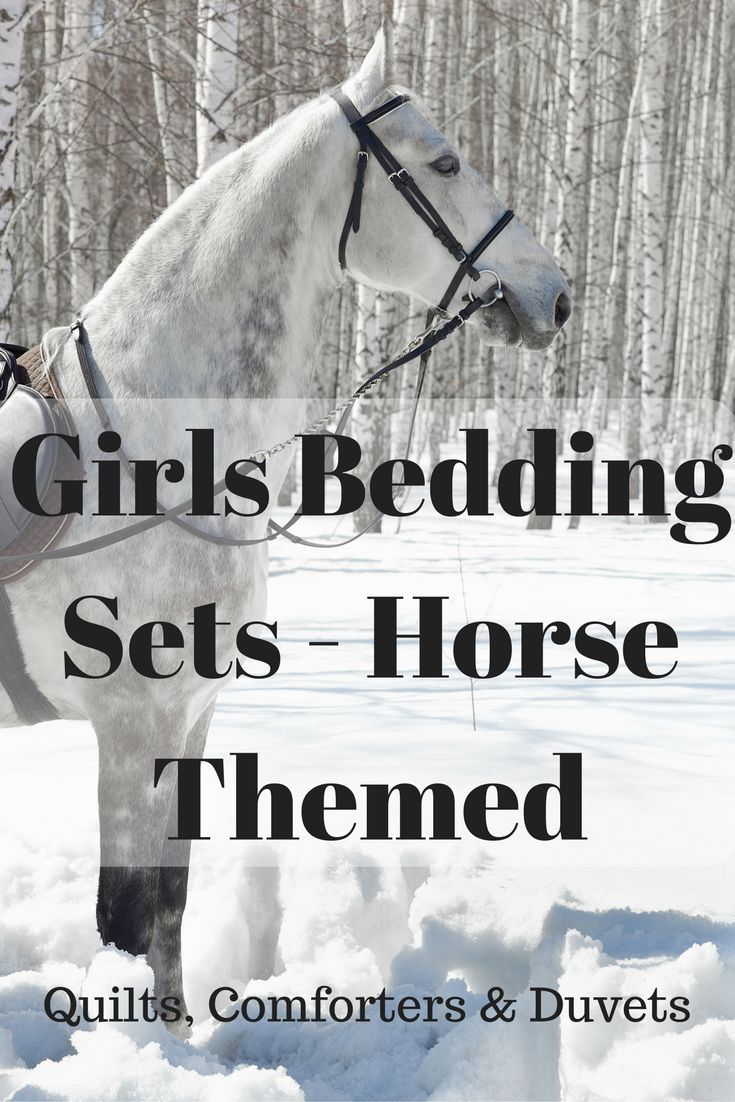 Girls Bedding Sets in a Horse themed style make a great choice for girls that love horses. Adorable horse patterns for little girls, pictures of horses running or western style patterns for teen girls.