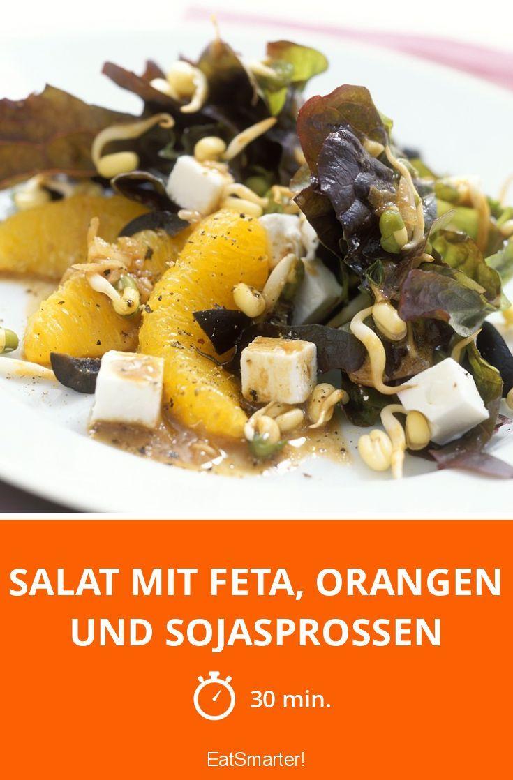 Salat mit Feta, Orangen und Sojasprossen - smarter - Zeit: 30 Min. | eatsmarter.de