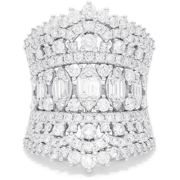 Effy Jewelry Effy Hematian 14K White Gold Diamond Ring, 3.15 TCW ($6,997) ❤ liked on Polyvore featuring jewelry, rings, 14k ring, white gold diamond rings, 14 karat ring, diamond rings and 14 karat gold jewelry