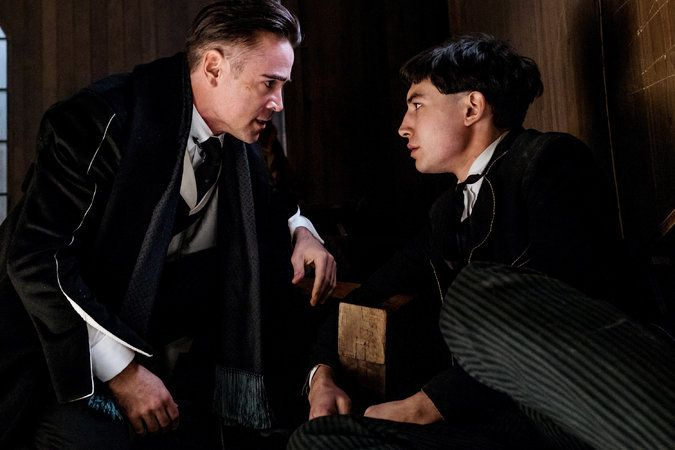 """Colin Farrell, left, as Percival Graves and Ezra Miller as Credence in """"Fantastic Beasts and Where to Find Them."""""""