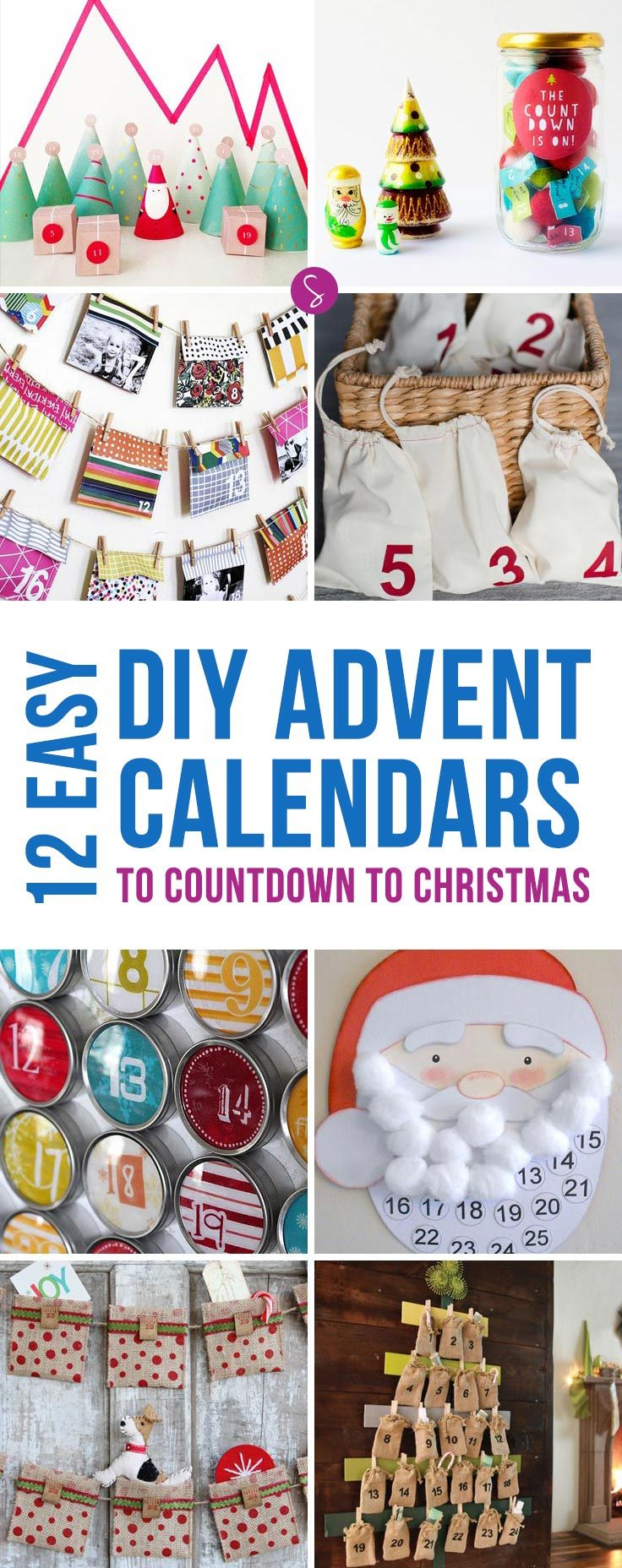 These easy advent calendars to make at home are just what we need to count down to Christmas!