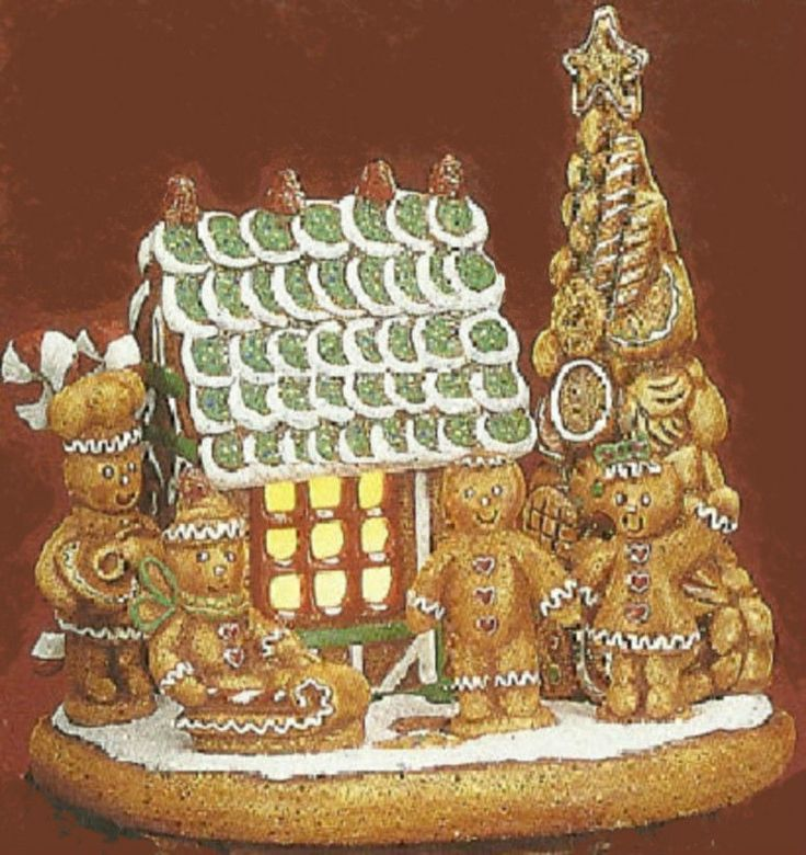Ceramic bisque ready to paint gingerbread scene house for Ceramic house paint