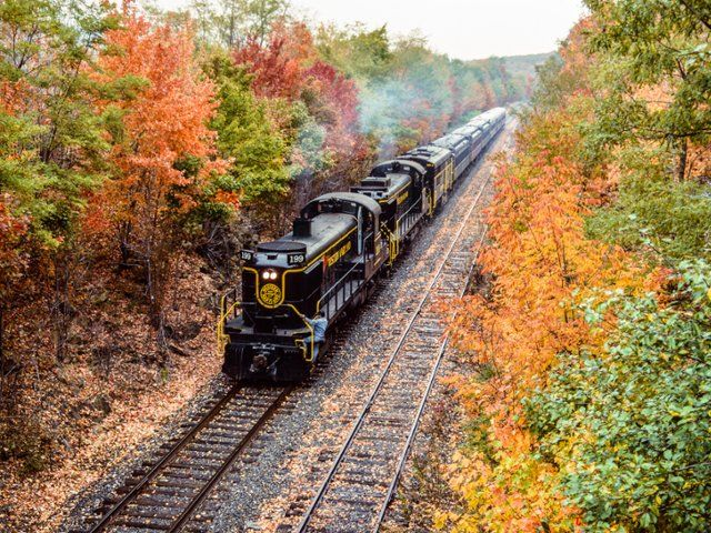 Western Maryland Scenic Railroad in Autumn  Dennis Mook / SuperStock