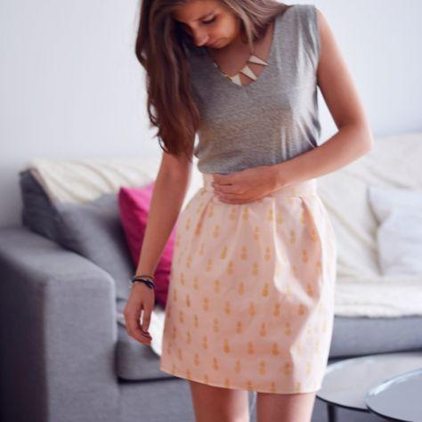 Le tuto pour coudre une jupe à grosses fronces et fermeture invisible. On