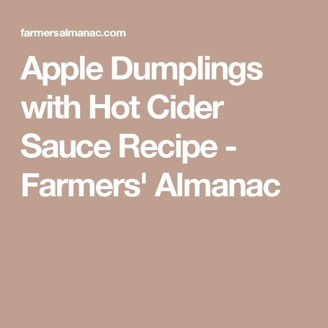Apple Dumplings With Cider-Rum Sauce Recipe — Dishmaps