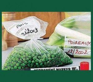 Congélation de légumes.