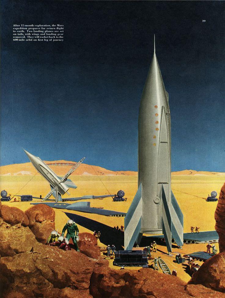 FRED FREEMAN - EXPLORING MARS: retro_futurism