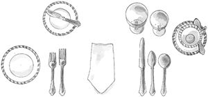 Basic, Informal, and Formal Table Settings...Would love a revival of frequent formal dinner parties...too bad many people don't even know how to set a table.