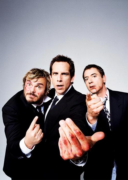 Jack Black, Ben Stiller and Robert Downey Jr.