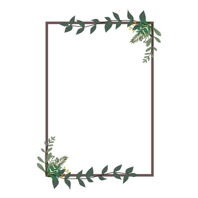 Invitation Rectangle Ivy Rectangle Border Png And Vector With