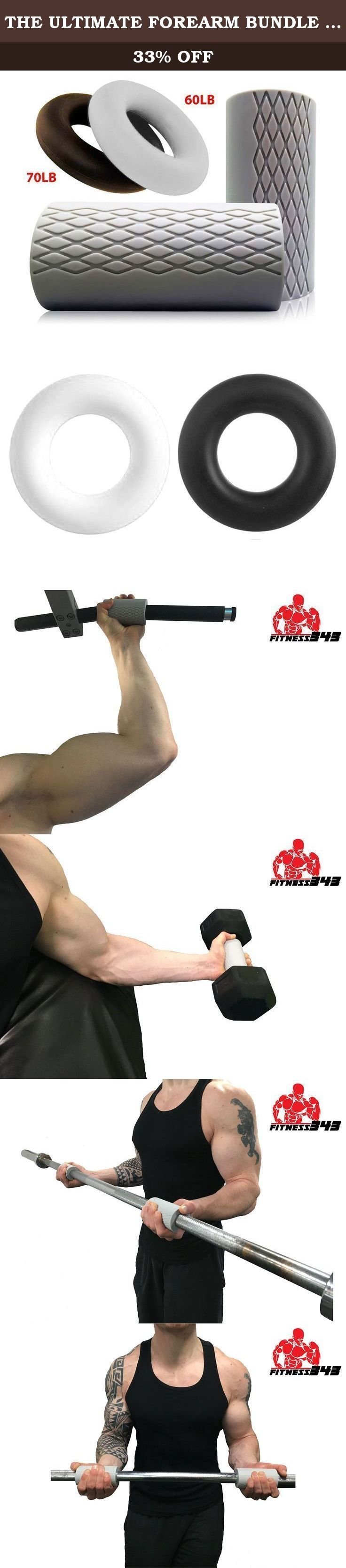 """THE ULTIMATE FOREARM BUNDLE - 2"""" Thick Fat Grips + 2 Forearm Grip Rings (60LB & 70LB Resistance) - Made From Comfortable and Durable Non-slip Silicone Rubber - Quality Manufactured - 100% refundable. Use these products together to reach your forearms full potential size and strength. We carefully selected these products to bundle together because they target different key areas of your forearms. These targeted areas are essential for maximum growth and increase in strength. The 60LB…"""