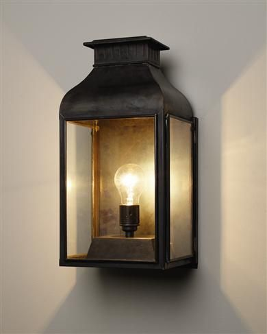 Contemporary outdoor wall lantern - stairwell