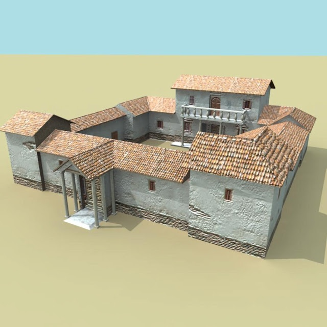 3d roman villa model personal project house for Architecture romaine