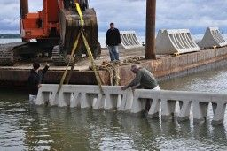 The Ocean Gate project is the first time this sort of erosion prevention method has been used in New Jersey. The structures resemble beach d...