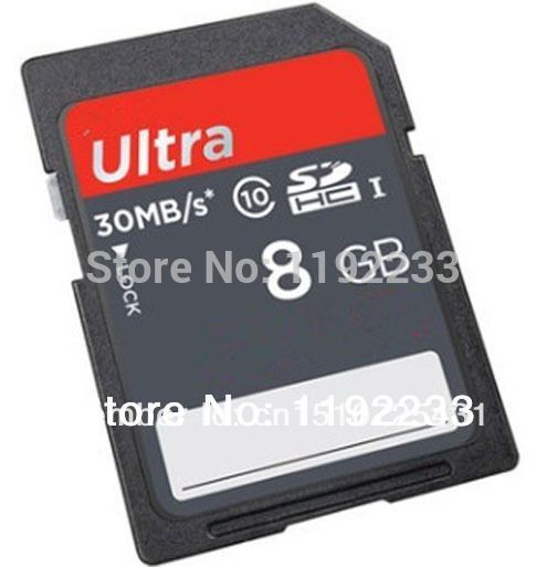 2pcs/lot 8GB 30M/S Ultra Speed SD Card For Raspberry Pi Model B Free shipping
