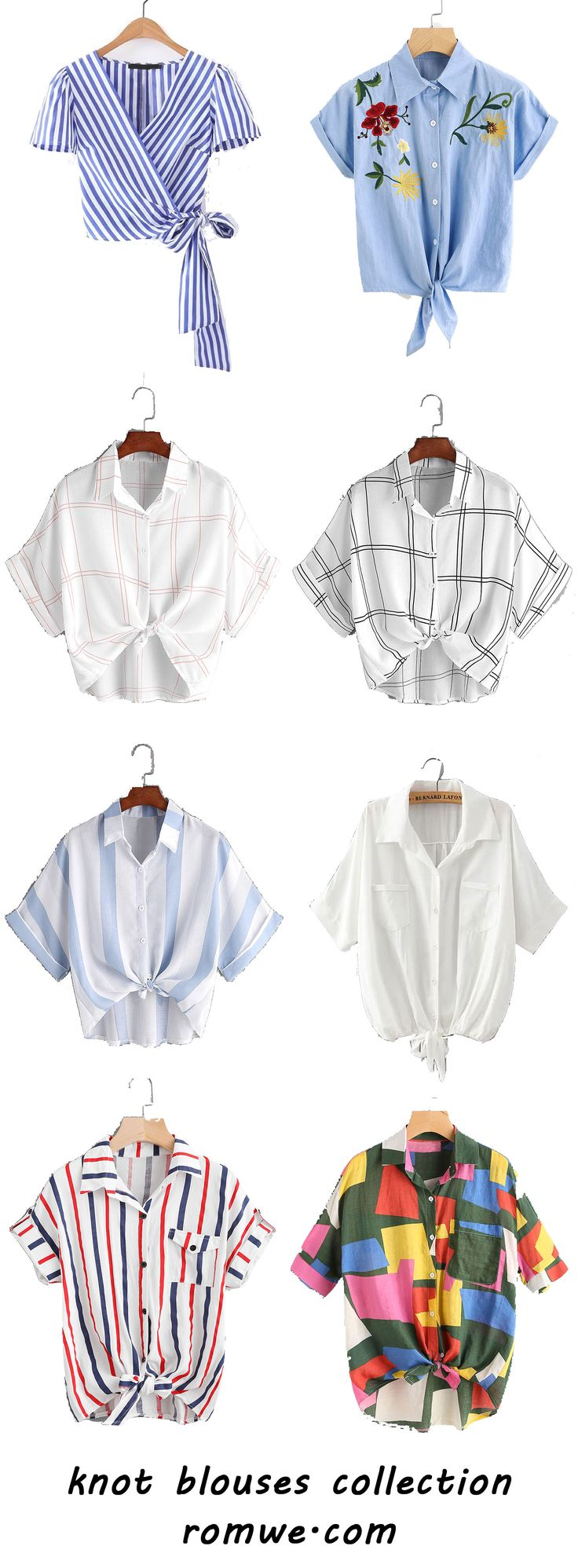 knot blouses collection for summer - romwe.com