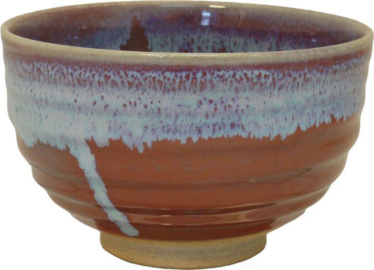 Red blue matcha bowl