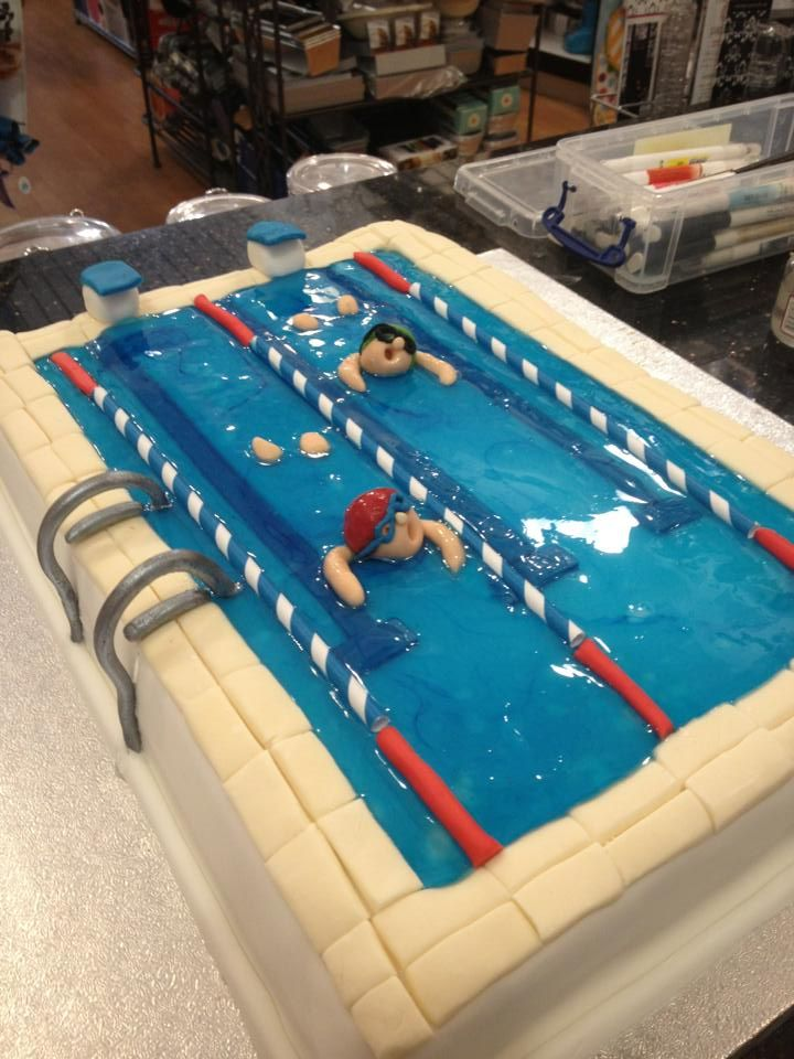 Swimming Pool Cake Ideas swimming pool cake Swimming Pool Cake Love The Detail On This Cake