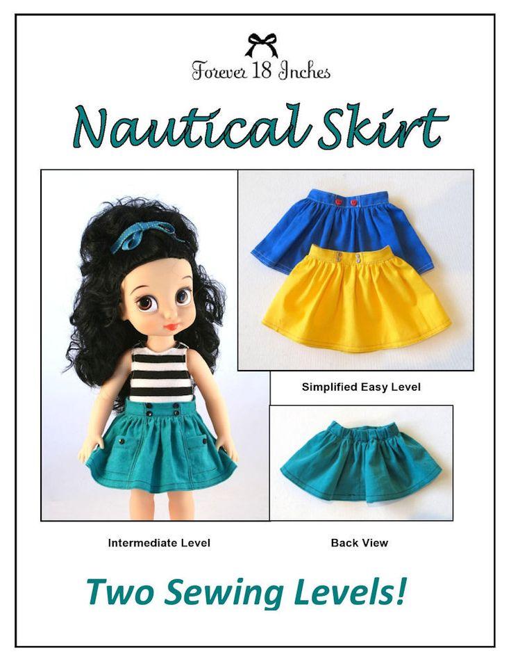 Nautical Skirt for Disney Animator Dolls