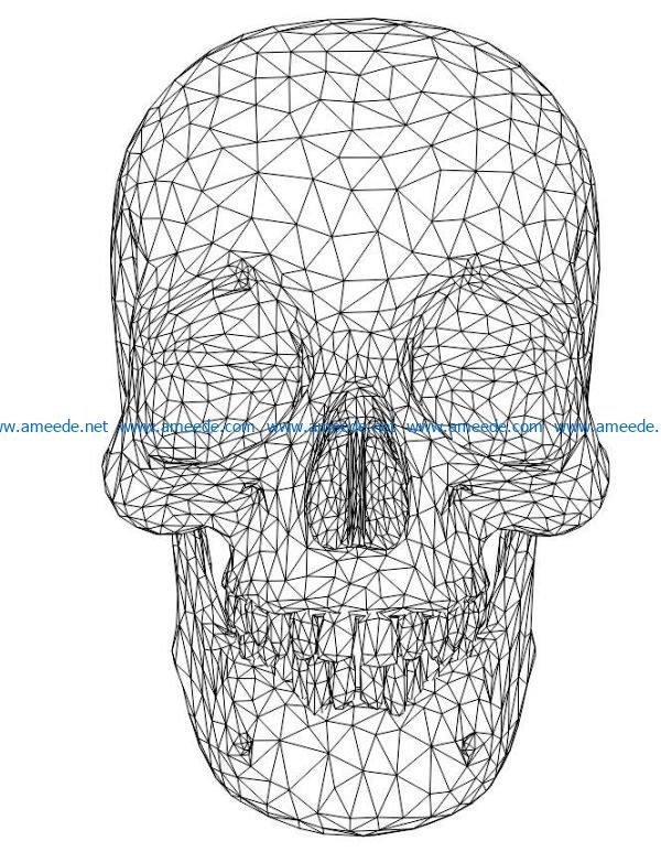 3d Illusion Led Lamp Human Skull Free Vector Download For Laser Engraving Machines Download Free Vector Di 2020