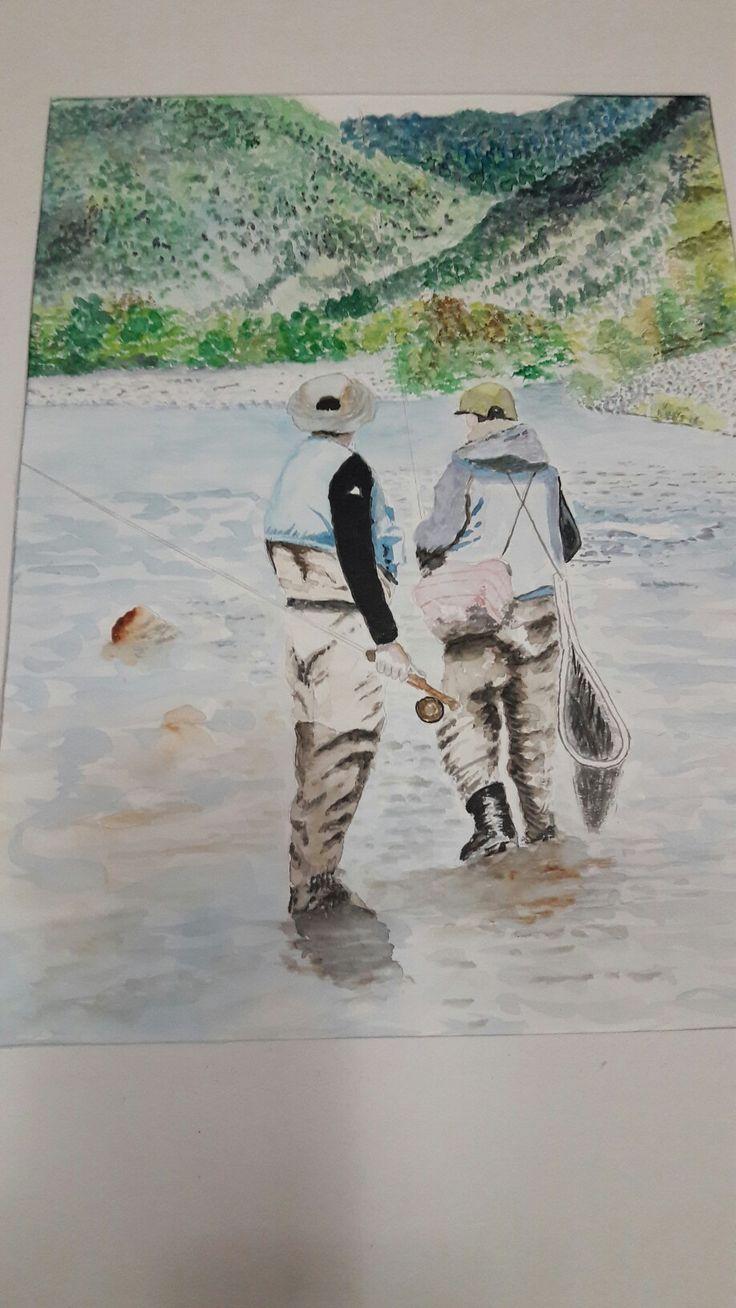 Yo pescando