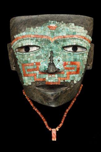 Máscara de Malinaltepec,realizada con jade, s. IX Período Clásico (150 - 900 d.C.)