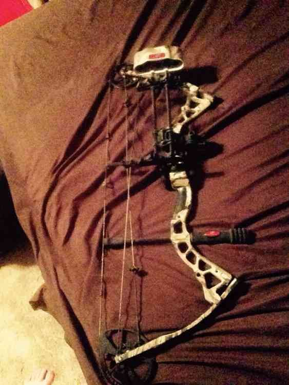 I have a bow tech diamond compound bow for sale comes with sights and whisker biscuit and quiver in really good shape adjustable poundage and draw length. I want $500 for it but prices are negotiable. $500.00 USD