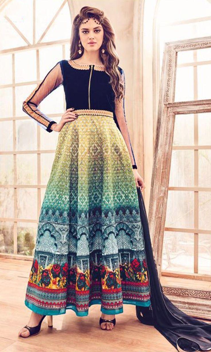 Buy online MultiColor Designer Salwar Kameez Suit (SKU Code : SUEJDSMS4109) at Ishimaya Fashion.