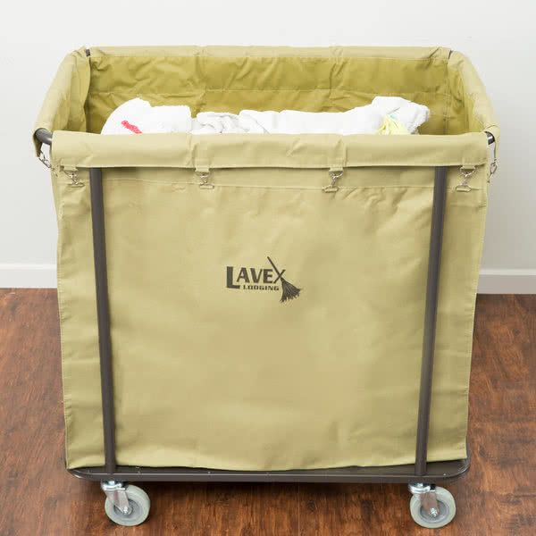 Lavex Lodging Commercial Laundry Cart Trash Cart 14 Bushel Metal Frame And Canvas Bag Laundry Cart Commercial Laundry Laundry