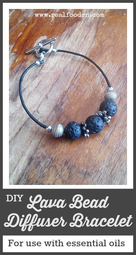 How to Make Your Own Lava Bead Diffuser Bracelet. A fun and easy bracelet to make that lets you also enjoy the wonderful scents of your favorite essential oils! My daughter loves making these! #lavabead #essentialoils