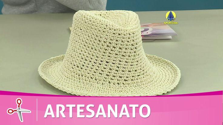 Vida com Arte   Chapéu de crochê endurecido por Carmem Freire - 29 de Ju...