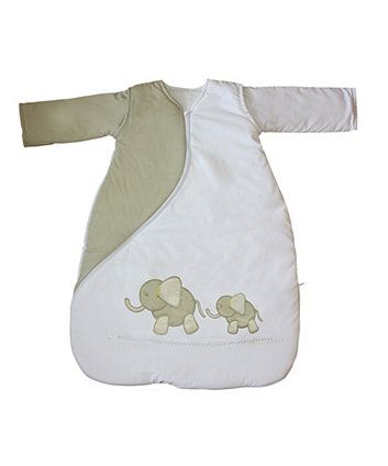 Purflo Sleepsac 1 Tog 0-3mths - Elephant Natural  +++