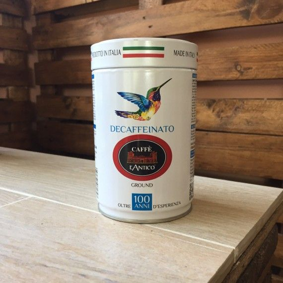 Caffè Macinato Decaffeinato - Barattolo Esotico La miscela preziosa di caffè Arabica e Robusta con aroma intenso e gusto armonioso, ideale in ogni momento della giornata.  5,60 € tasse incl.