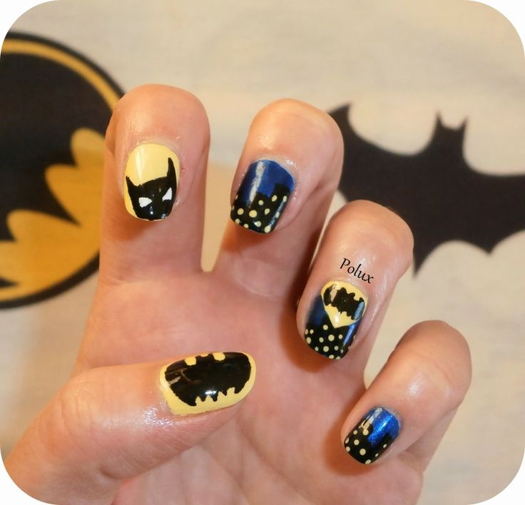 Batman nail art - Les ongles enchantés de Polux