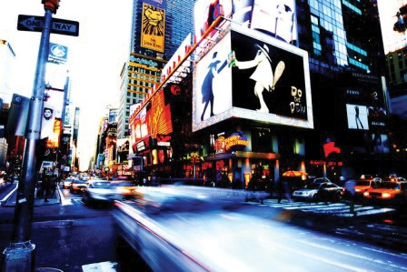 Broadway New York, USA. The Big Apple is an ideal destination for city-slickers who love life in the fast lane. Wedding Inspirations magazine Autumn 2011 (June 2011) www.weddinginspirations.co.za