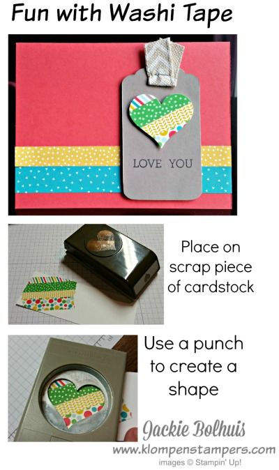 Klompen Stampers (Stampin' Up! Demonstrator Jackie Bolhuis): Fun With WASHI TAPE