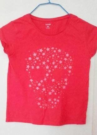 À vendre sur #vintedfrance ! http://www.vinted.fr/mode-enfants/filles-chemises-et-t-shirts/26897580-tee-shirt-rose-vif-skull