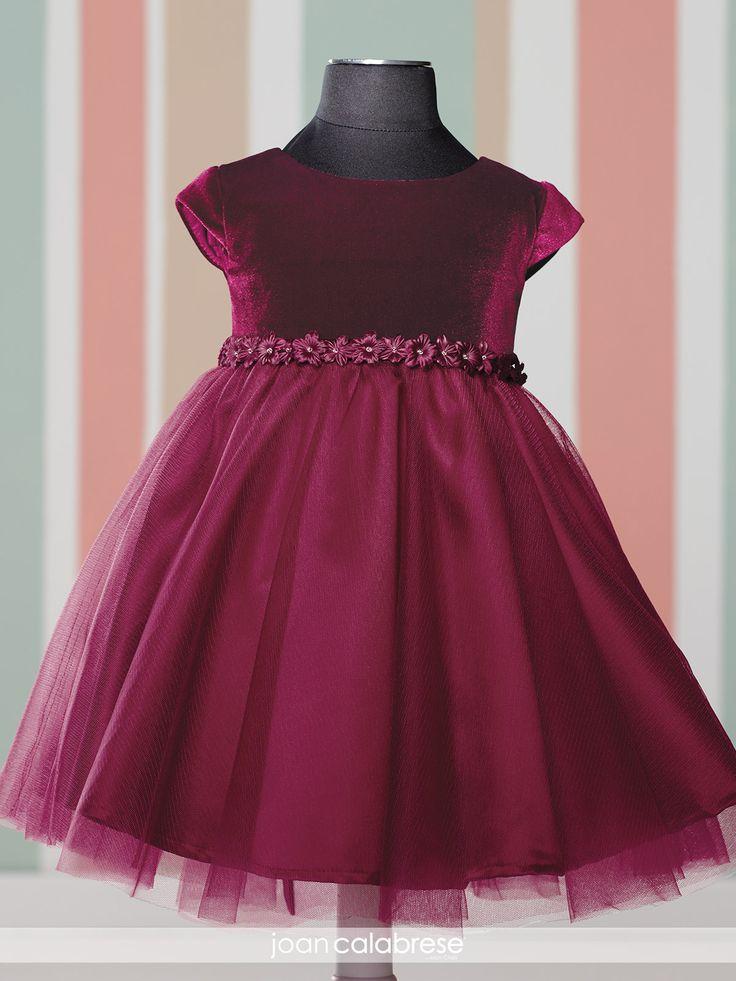 Communion Dresses Burgundy Velvet Top A Line Tulle Skirt Little Girl Dresses With Flowers Waist Pageant Dresses For Girls Glitz